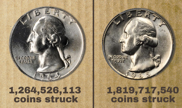 ROLL 90/% Silver Quarters 40 total coins 1964 and before