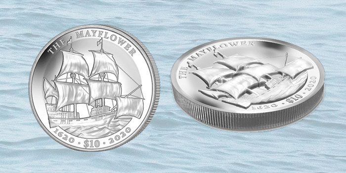 Ultra High Relief Silver Coin Commemorates Mayflower 400th Anniversary