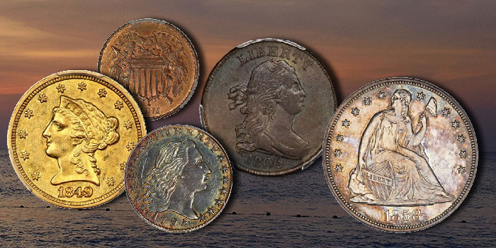 Scarce Half Cents of Falls Church Collection at David Lawrence Rare Coins