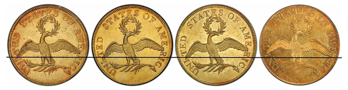 1796 $10 Gold Pieces - which image orientation would you choose?