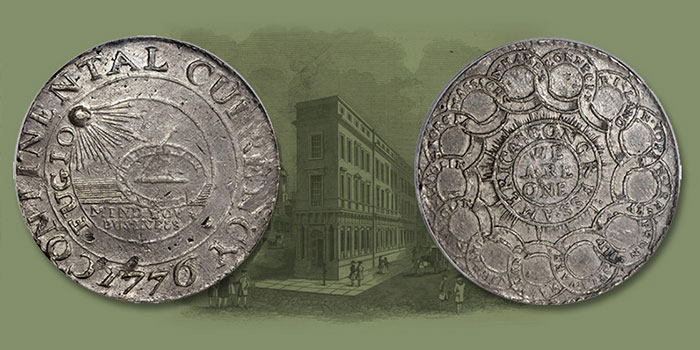 """Famous """"1776"""" Continental Dollar Featured in Stack's Bowers June 2020 Auction"""
