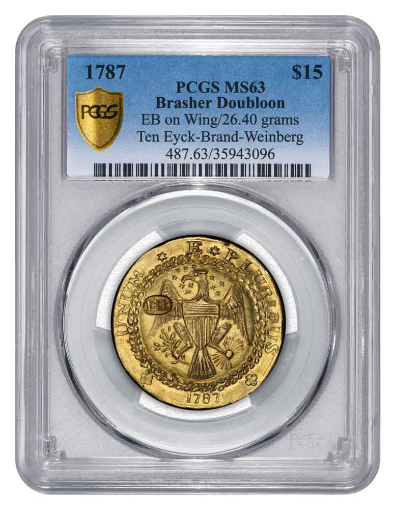 1787 Brasher Doubloon. Image: PCGS.
