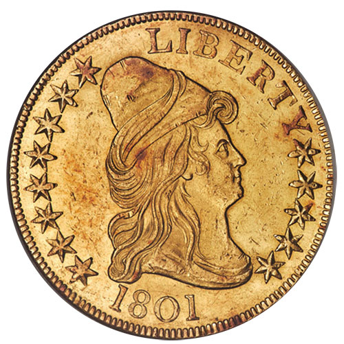 1. 1801 $10 Gold Eagle in MS-61