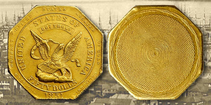 Historic $50 California Gold Rush Coin at Stack's Bowers August Auction