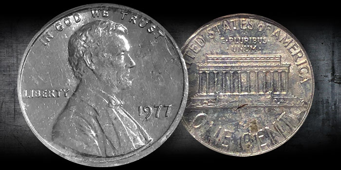 Mike Byers Mint Error News - Unique 1977 Lincoln Cent on Aluminum Planchet