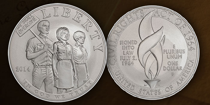 The 2014 Civil Rights Act of 1964 Commemorative Silver Dollar