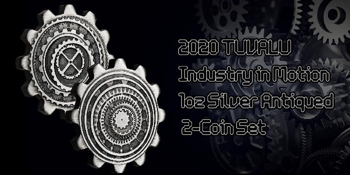 Perth Mint Coin Profiles - Tuvalu 2020 Industry in Motion 1oz Silver Antiqued 2-Coin Set