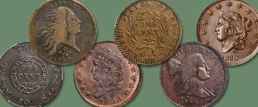 ESM Collection of United States Large Cents. Courtesy Stack's Bowers Auction