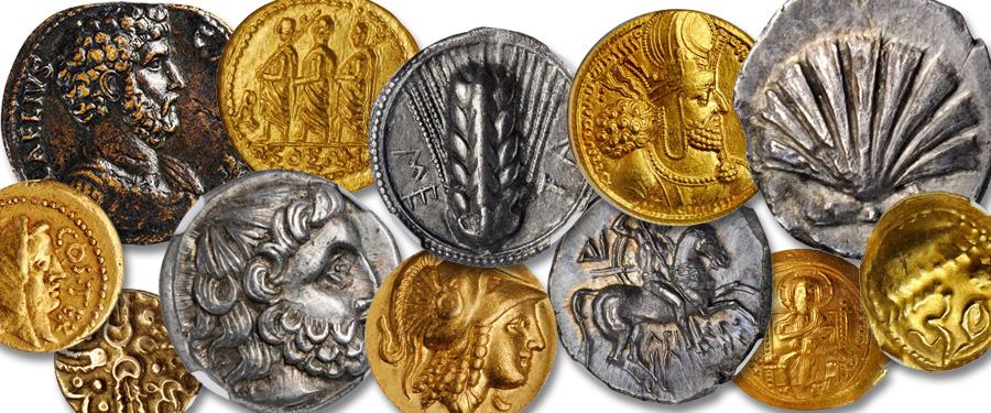 Glacier Rams Solidi Collection of Ancient Coins. Courtesy Stack's Bowers Auction