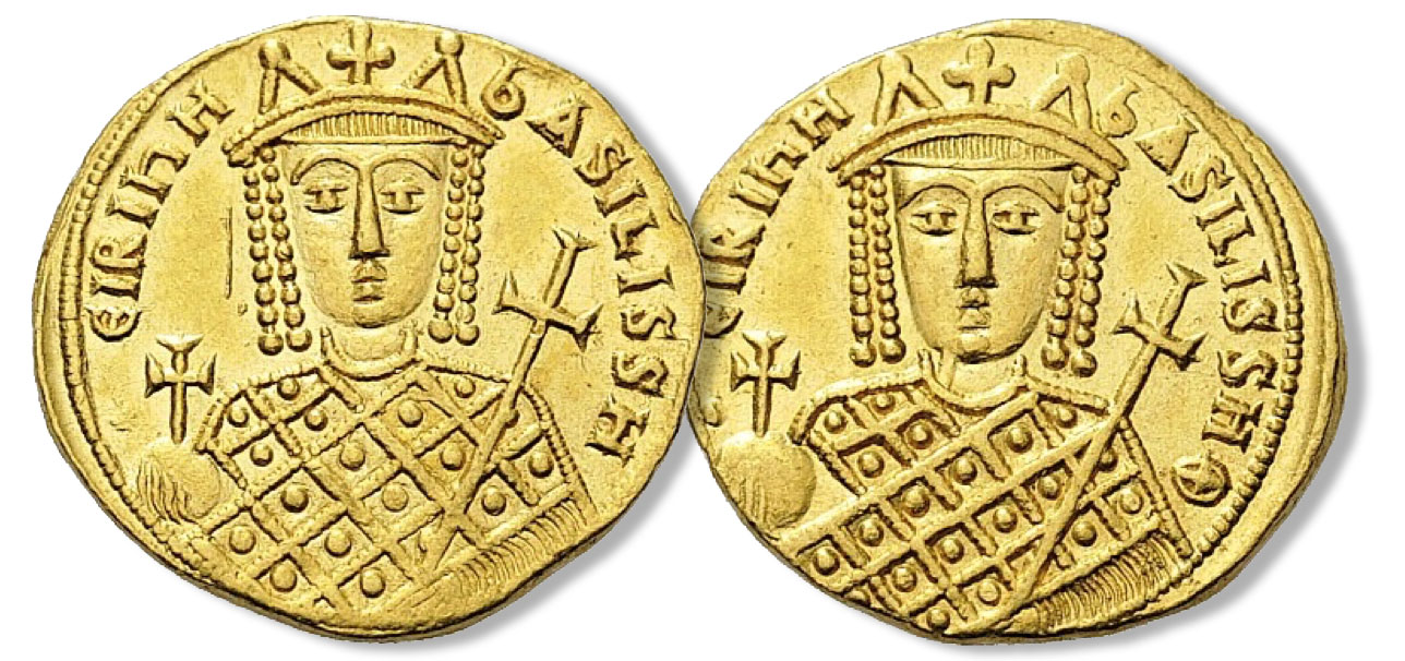 Irene. 797-802. Solidus (Gold, 18mm, 4.43 g 6), Constantinople