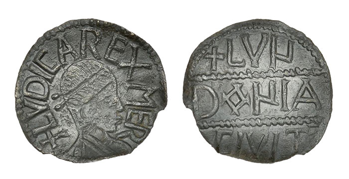Kings of Mercia, A unique and highly important Penny of the Mercian King Ludica