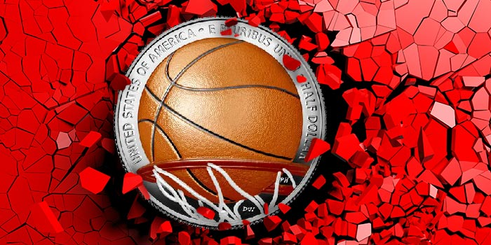 Collectors Polarized by US Mint's Colorized Basketball Hall of Fame Commemorative Coins