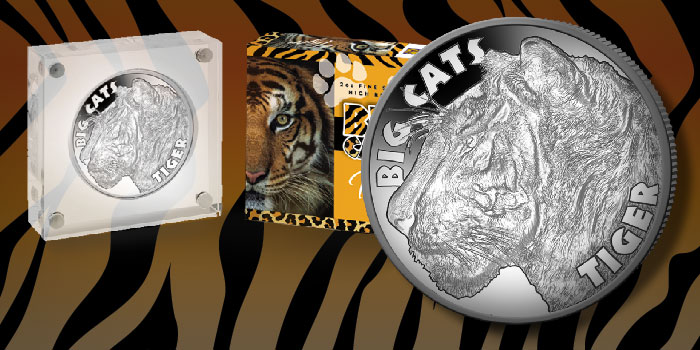 "The Tiger: Penultimate Coin in Latest ""Big Cats"" 2 oz Silver Coin Series"