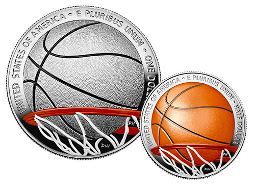 US Mint Opens Sales of Colorized Basketball Hall of Fame Commemorative Coins Aug. 28