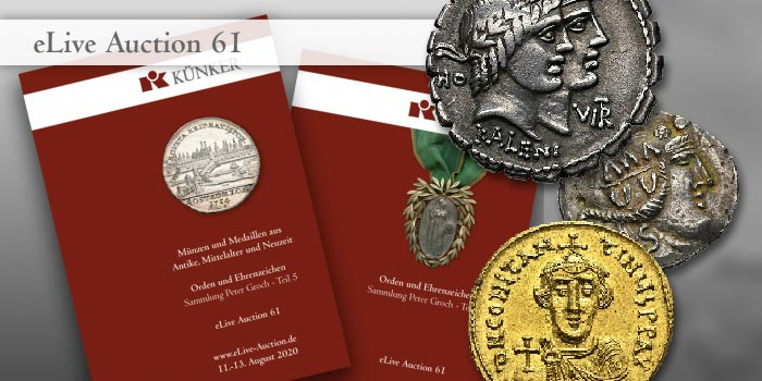 Künker eLive Auction 61 of Ancient and World Coins and Medals Now Online