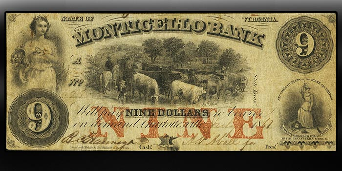 Heritage Offers Aberon Collection of Virginia Obsolete Banknotes