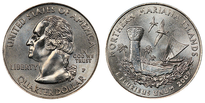 2009 Northern Mariana Islands Quarter. Image: PCGS.