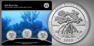 United States Mint 2020 America the Beautiful Quarters - Salt River Bay National Historic Park and Ecological Preserve Three-Coin Set