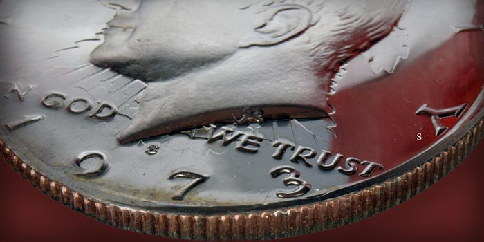 Mike Byers Mint Error News - Unique 1973-S Kennedy Half Dollar Overstruck on 1973-S Washington Quarter