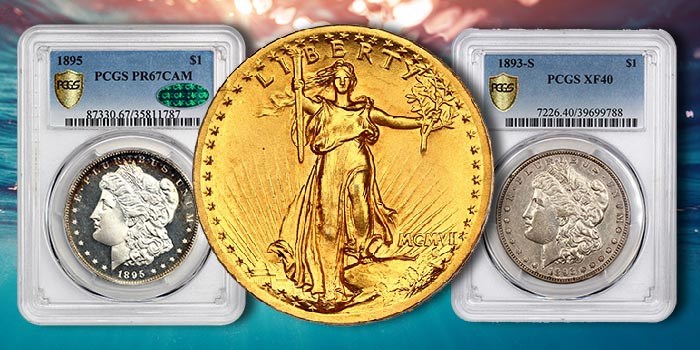 David Lawrence Rare Coin Auction Features Key Date Morgan Dollars, High Relief Saint