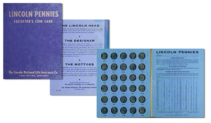 Lincoln Pennies Collector's Coin Card - Lincoln National Life Insurance Co. Image: David Lange.