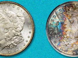 Spectacular Toned 1879-S Morgan Dollar in Stack's Bowers August Las Vegas Auction