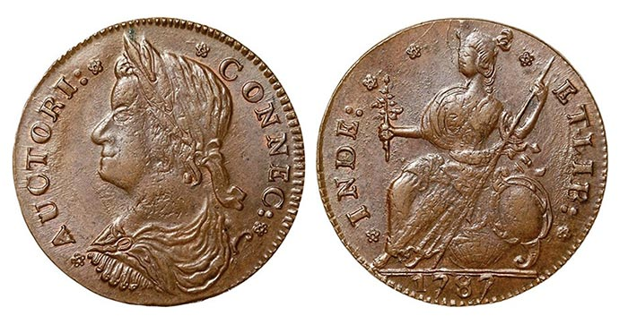 1787 Connecticut Copper. Image: NGC.