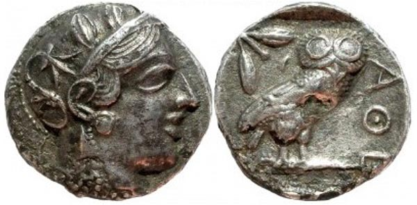 Athens Own Silver Plated Bronze Tetradrachm Fouree.