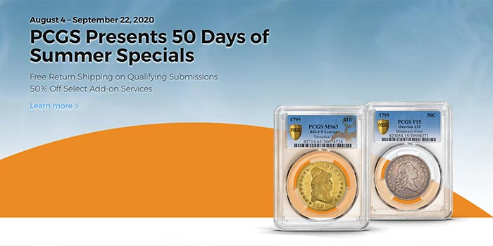 PCGS 50 Days of Summer Specials Loaded With Hot Deals