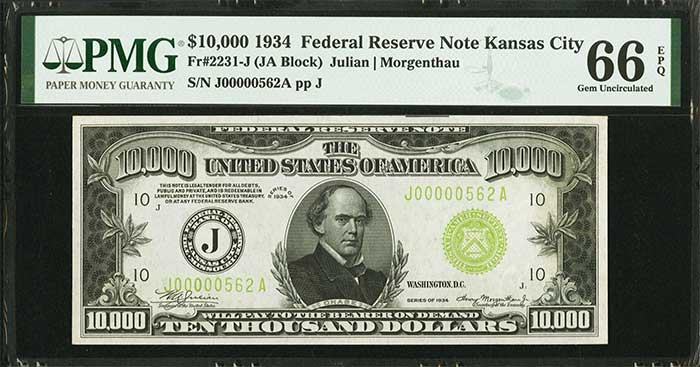 A $10,000 Bill Sets $384,000 World Record at Heritage Auctions