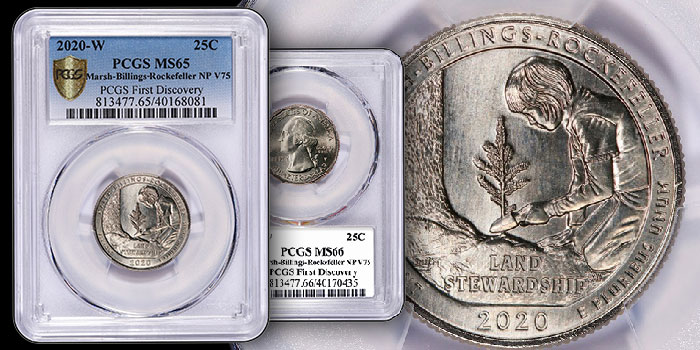 PCGS 2020 Quarter Quest Winners Split $2,000 Prize for 2020-W Vermont Quarter