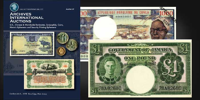 Archives International Auction 61 of Stocks, Bonds, and World Banknotes
