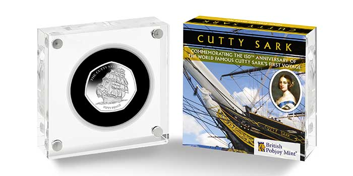 Cutty Sark: Third Tall Ship Coin for 2020 from Pobjoy Mint