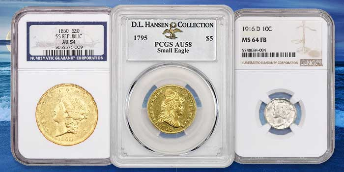 David Lawrence Rare Coins Offers Key Date Flying Eagle Cent, Mercury Dime, More