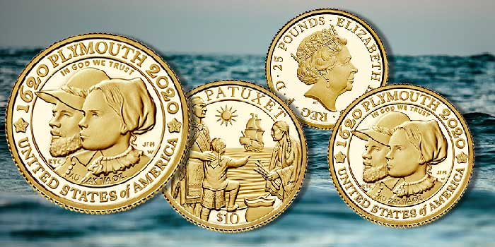US Mint, Royal Mint Collaborate on Mayflower Anniversary Coins, Medals