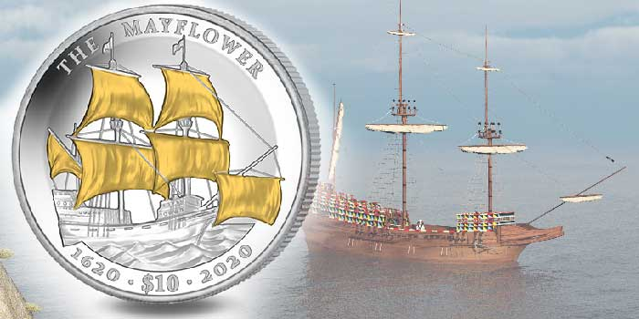 Limited Edition GoldClad Coin Commemorates 400th Anniversary of Mayflower