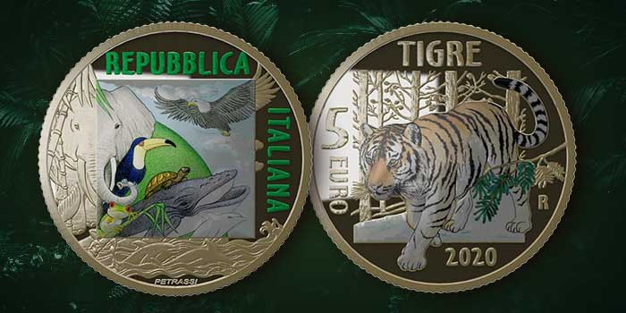 First Glow-in-the-Dark Coin in Sustainable World Series Honors the Tiger