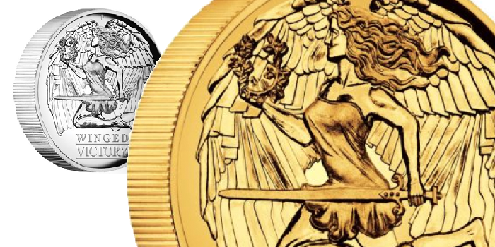 Perth Mint Coin Profiles - Australia 2021 Winged Victory Gold, Silver 1oz High Relief Proof Coins