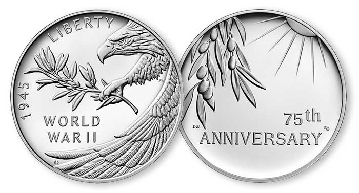 World War II 75th Anniversary Coin, Medal Designs Announced by US Mint