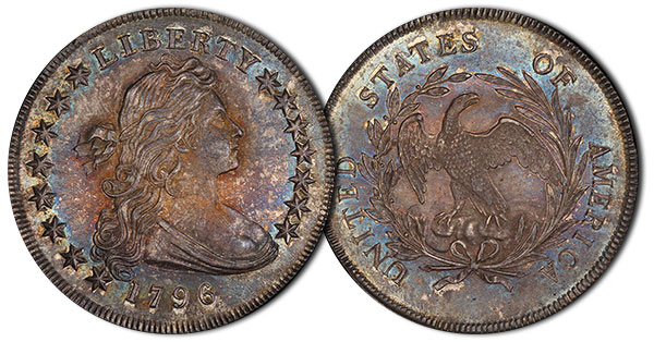 1795 Small Date Small Letters Dollar. PCGS MS65 CAC.