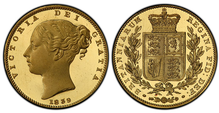 Deep Cameo 1839 Proof Sovereign