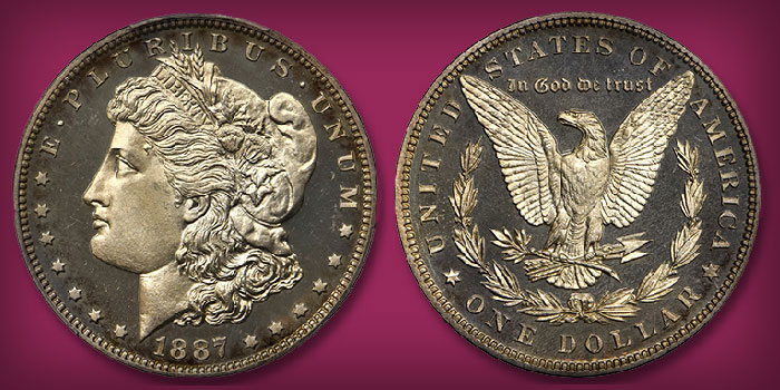 Cameo Proof 1887 Morgan Dollar in Stack's Bowers Nov. Showcase Auction