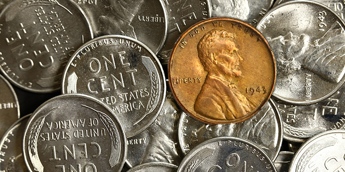 Famous Bronze 1943 Lincoln Cent in Stack's Bowers Nov. Showcase Auction
