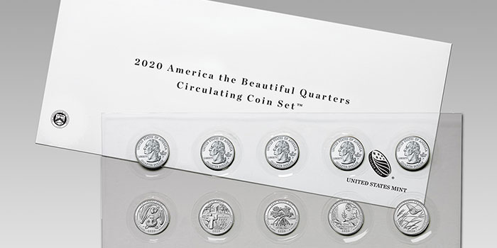 America the Beautiful Quarters 2020 Circulating Coin Set on Sale Oct. 8