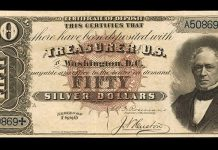 "Finest Graded ""Black Back"" 1880 $50 Silver Certificate at Stack's Bowers Auction"