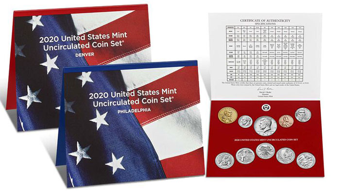2020 United States Mint Uncirculated Coin Set