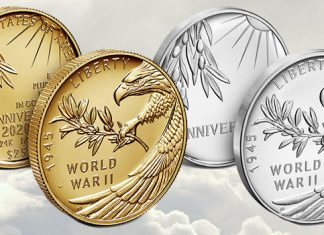 United States Mint 2020 World War II 75th Anniversary coins and medals