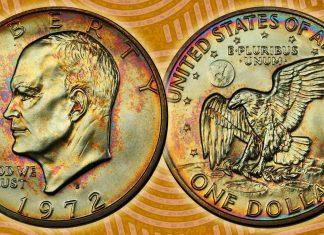 United States 1972-S Uncirculated Eisenhower Dollar