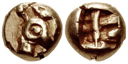 Ionia (?). Electrum Forty-Eighth Staters. Phanes. c. 625-600 BCE. Images: CNG.