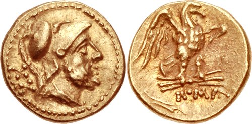 Rome: Republic. 211-208 BCE. AV 20 Asses. 10mm, 1.13 g, 12h.